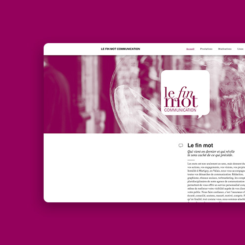 Le Fin Mot Communication website