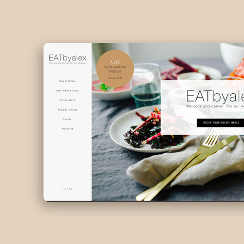 EATbyalex offers 5-day ready meal programs that will guide you to clean eating with freshly prepared and whole food meals delivered to your home by bike.